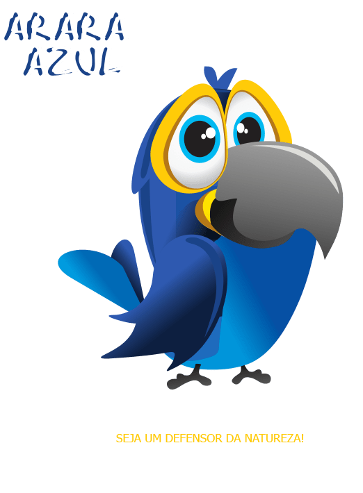 animais-em-extincao-arara-azul-redmax-calcado-infantil